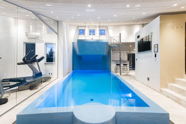 Atemberaubend Luxusferienhaus Dänemark Luxus Urlaub Blaavand Fitness Pool Spa @EG_04
